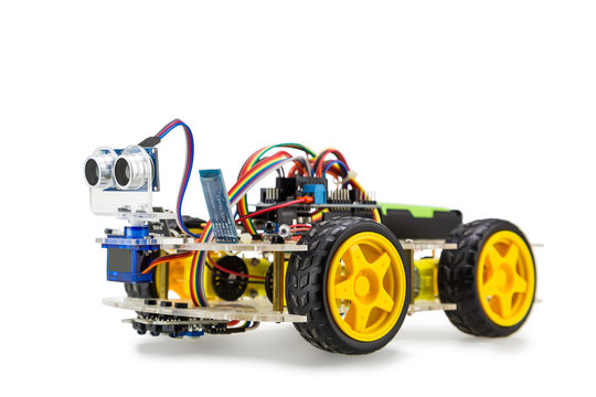 Four wheels drive robotic car