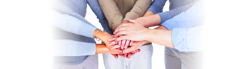 People hands together
