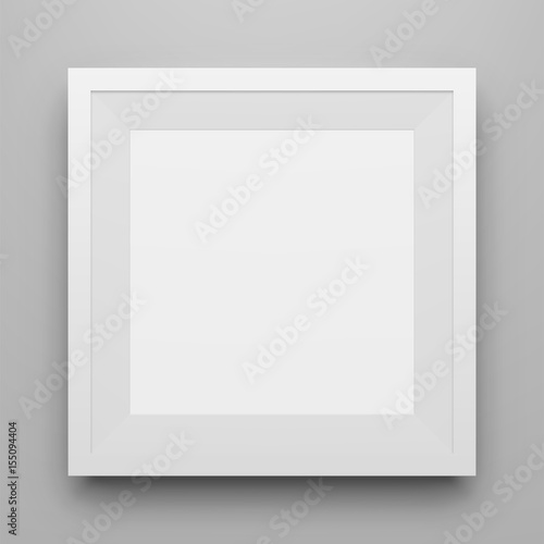 White square Picture Frame Mockup with Shadow\