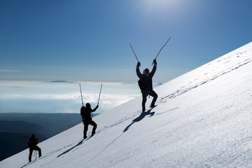 azimli,gayretli ve kararlı dağcılar