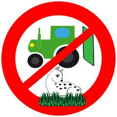 The symbol does not kill the animal during the harvest