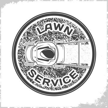 Lawn service logo monochrome