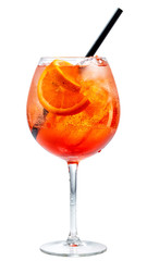 Poster Cocktail glass of aperol spritz cocktail