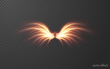 Glowing wing vector effect