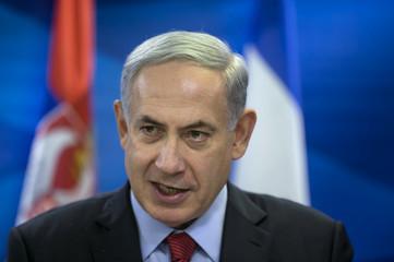 Israel's Prime Minister Netanyahu delivers statements to media in Jerusalem