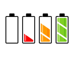 battery charge level vector symbol icon design. Beautiful illustration isolated on white background
