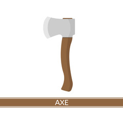 Axe icon vector icon. Work tool isolated on white background in flat style.
