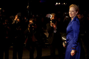 """Actress Meryl Streep arrives for the Gala screening of the film """"Suffragette"""" for the opening night of the British Film Institute (BFI) Film Festival at Leicester Square in London"""