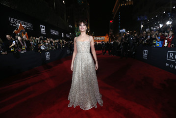 "Actress Felicity Jones arrives at the world premiere of the film ""Rogue One: A Star Wars Story"" in Hollywood"
