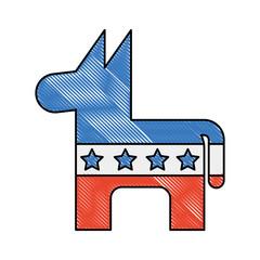 usa donkey symbol icon vector illustration design