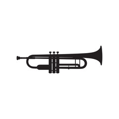 Trumpet icon on white background
