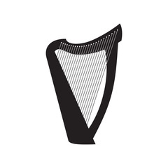 harp on white background
