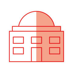 white house isolated icon vector illustration design