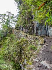 Treppenstufen auf dem Machu Picchu Cusco Peru