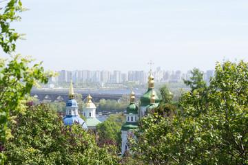 Kiev. Church. High-rise buildings