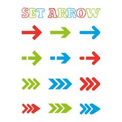 Vector colorful arrow stickers.