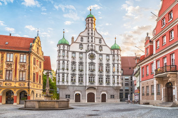 Town hall (Rathaus) in Memmingen, Germany