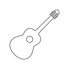 Guitar icon on white background