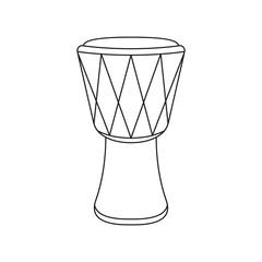 Djembe drum on white background