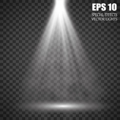 Vector isolated spotlight. Light effect With smoke