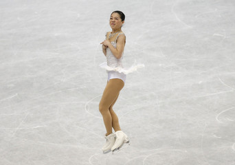 Japan's Suzuki competes during the women's free program at the ISU World Figure Skating Championships in Saitama