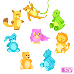 Set of toy animals