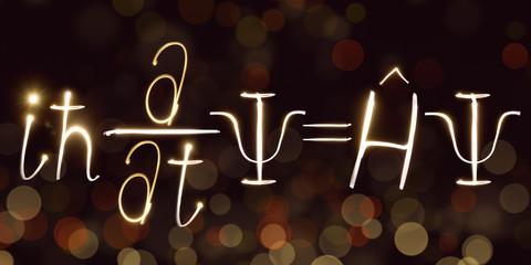 Physics, Schrodinger's formula, freezelight, bokeh, Schrödinger equation,Quantum mechanics