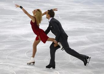Isabella Tobias and Deividas Stagniunas during ice dance free dance program at Sochi 2014 Winter Olympics