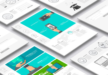 Illustrated Web Layout with Icons 5