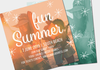 Summer Party Invitation Layout 4