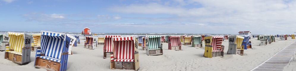 Strandkorb, Strand, Meer, Langeoog