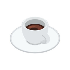 Espresso cup isolated on white background