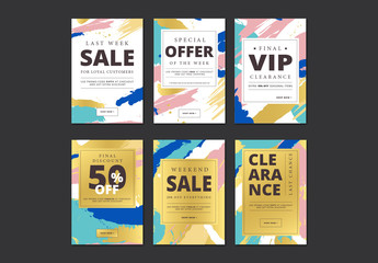 Abstract Patterned Social Media Sale Banners 1