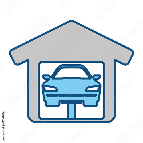 Garage Door Mechanic Icon Vector Illustration Graphic Design Stock