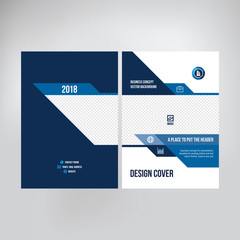 Cover design for catalogue, brochure, booklet. Graphic template for posting photos and text for presentations, business 