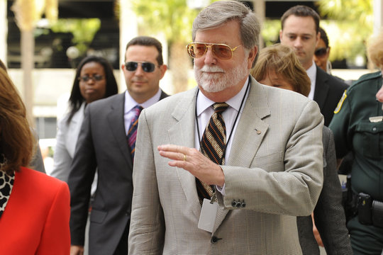 Defense Attorney Cheney Mason leaves after trial of Casey Anthony was given to the jury at the Orange County Courthouse in Orlando