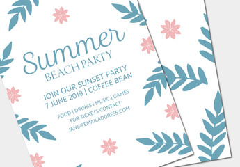Summer Party Invitation Layout 3