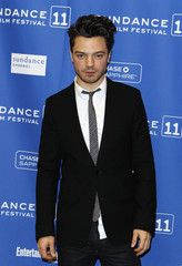 """Actor Dominic Cooper arrives for the premiere of the film """"The Devil's Double"""" during the Sundance Film Festival in Park City, Utah"""