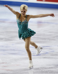 Helgesson of Sweden skates in the ladies short program competition at the Hilton HHonors Skate America in Kent, Washington