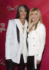 "Musician Perry and his wife arrive for 16th annual Keep Memory Alive ""Power of Love Gala"" and 70th birthday celebration for Ali in Las Vegas"