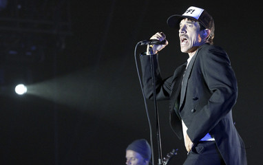 Anthony Kiedis of the Red Hot Chili Peppers performs during the Coachella Music Festival in Indio