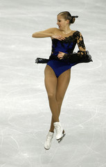 Carolina Kostner of Italy performs during the Skate America figure skating competition in Portland