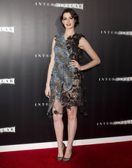 """Actress Anne Hathaway arrives for the premiere of the film """"Interstellar"""" in New York"""