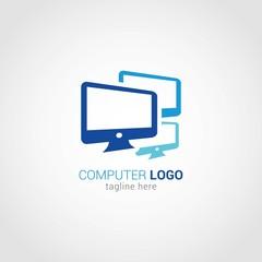 Computer Logo Design Vector