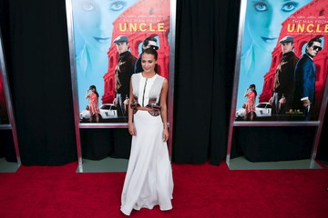 """Actress Alicia Vikander attends the premiere of """"The Man From U.N.C.L.E."""" at Ziegfeld Theater in New York"""