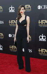 Model Emily Ratajkowski arrives at the Hollywood Film Awards in Hollywood