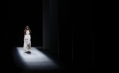 A model presents a creation from the Stefania Borras Spring/Summer 2011 collection at the 080 Barcelona Fashion show