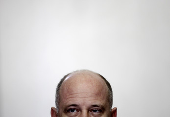Brazil's Mines and Energy Minister Zimmerman attends a news conference with international media in Rio de Janeiro