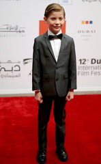 Canadian actor jacob Tremblay poses during the opening of the 12th Dubai international film festival, in Dubai