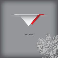 National flag Poland
